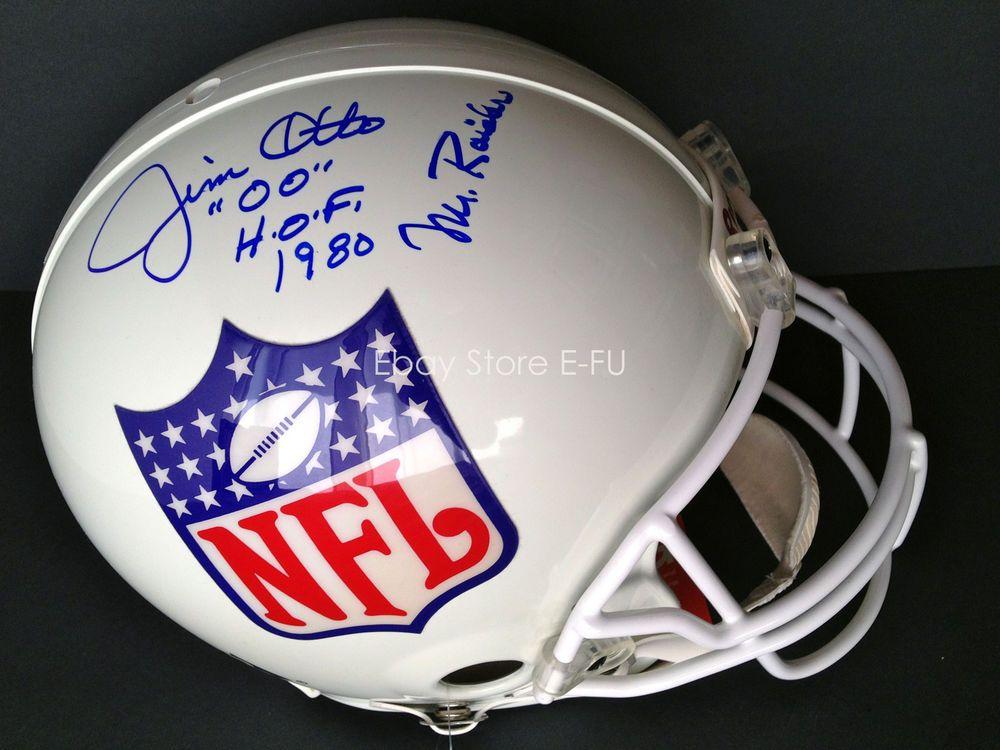 8ad3dd89751 JIM OTTO Signed F S Pro Line NFL Helmet Mr Raider Autograph TRISTAR COA  Auto (eBay Link)