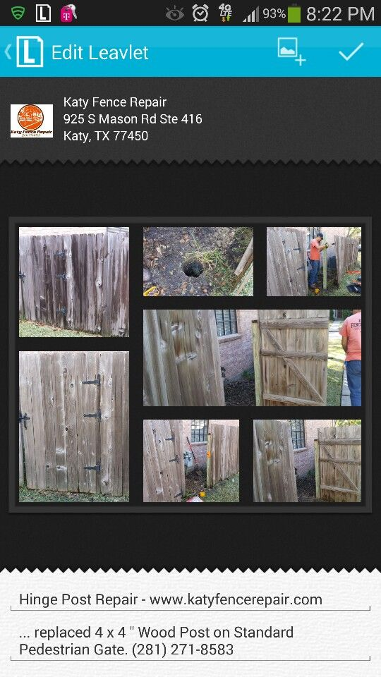 Www Katyfencerepair Com Wood Post Types Of Fences Fence Styles