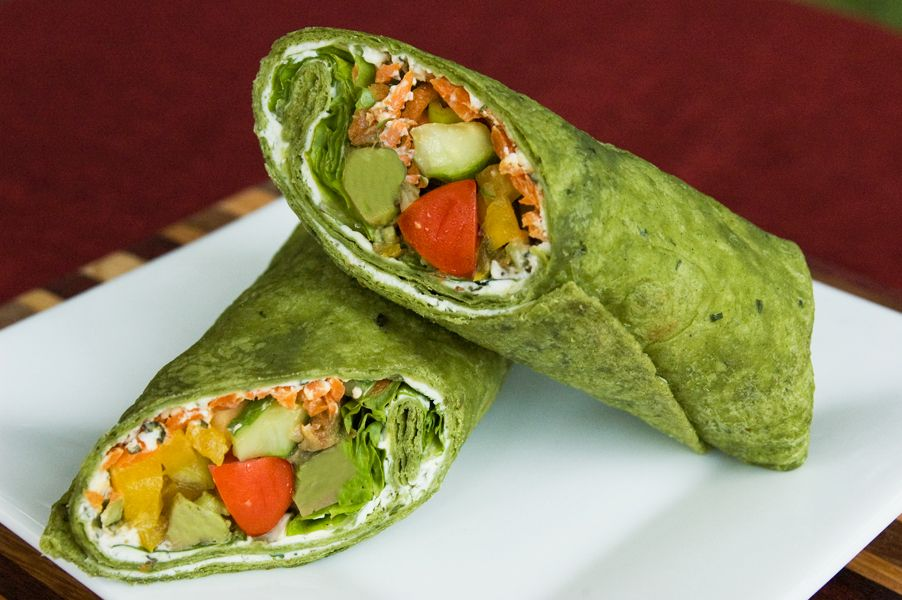 Veggie Spinach Wrap | Raw vegan entrees, dinner and snacks | Pinterest