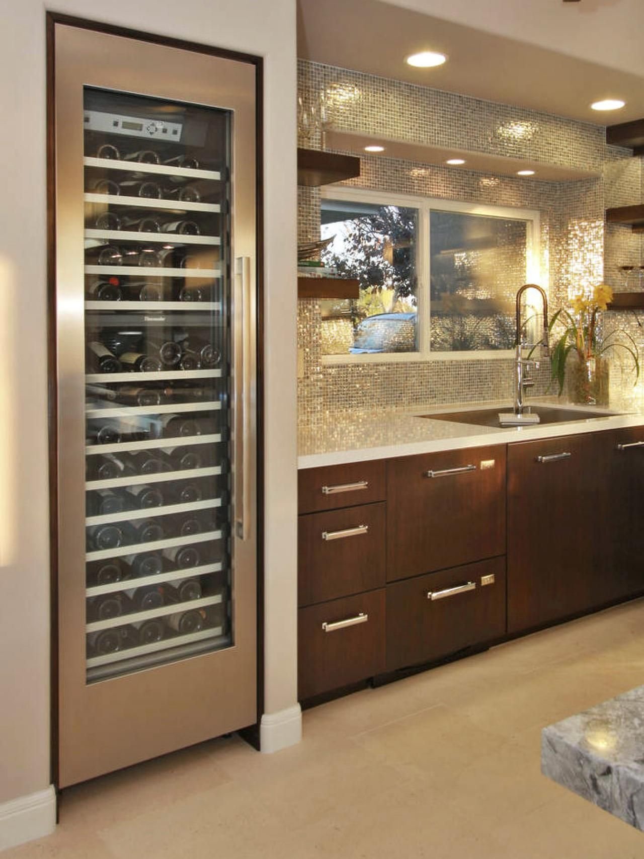 15 Style Boosting Kitchen Updates. Wine RefrigeratorWine ...