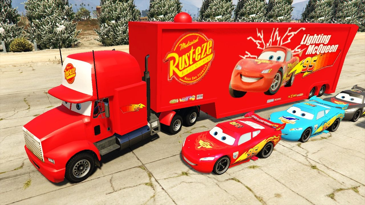 Cars Transportation For Kids Disney Pixar Cars Lightning Mcqueen Mack T