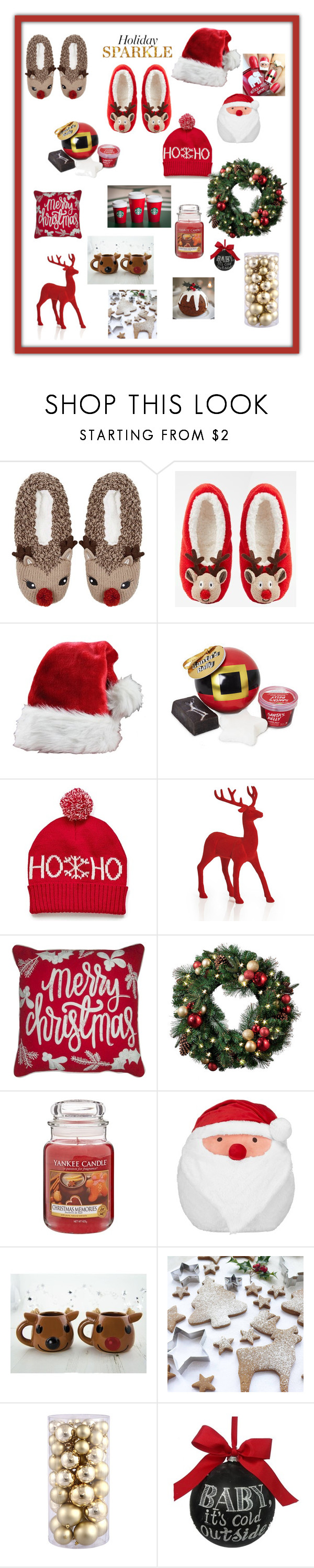 """Christmas essential"" by laurahyuna ❤ liked on Polyvore featuring interior, interiors, interior design, home, home decor, interior decorating, Topshop, ASOS, Yankee Candle and John Lewis"