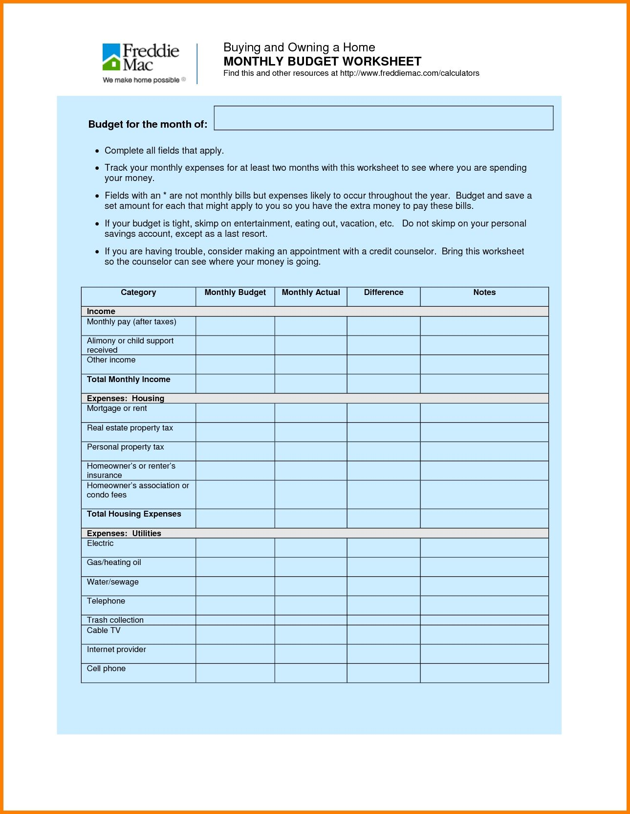 Free Home Budget Spreadsheet Budget Spreadsheet Home Budget Spreadsheet Budget Spreadsheet Template