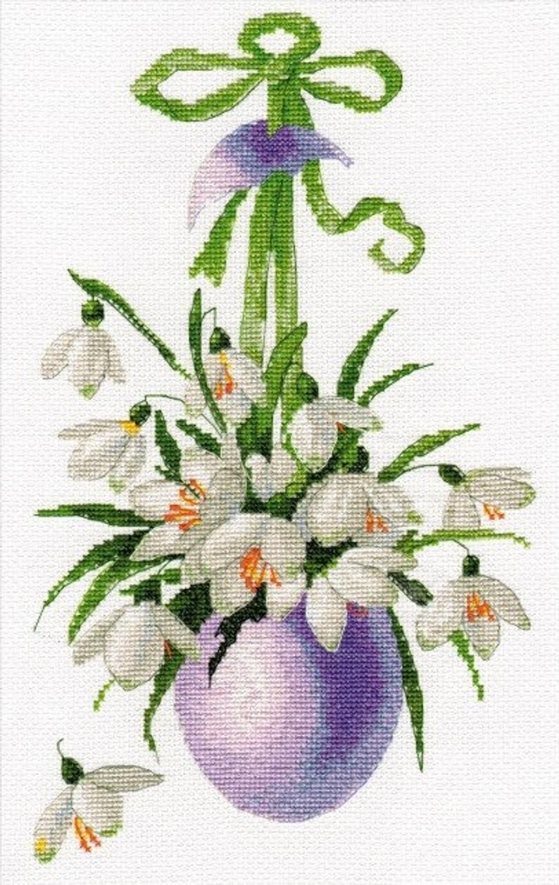 Happy Easter Counted Cross Stitch Kit OVEN