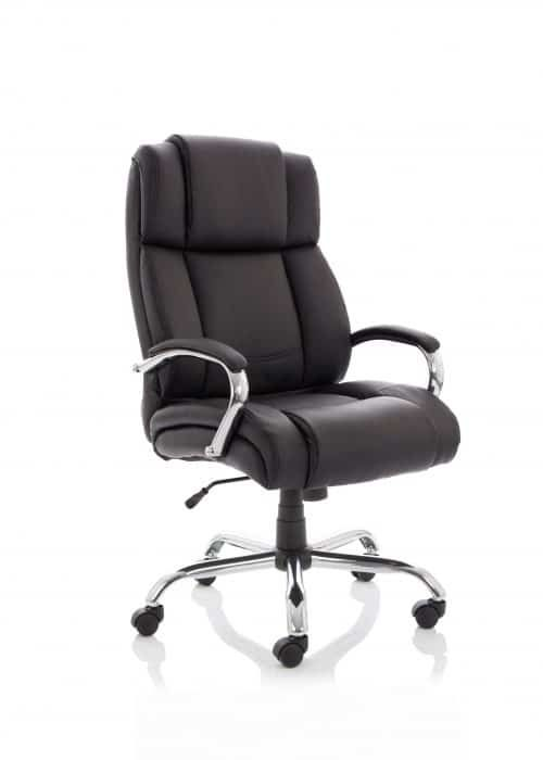 Texas Heavy Duty Wide Girth Leather Office Chair | Office ...