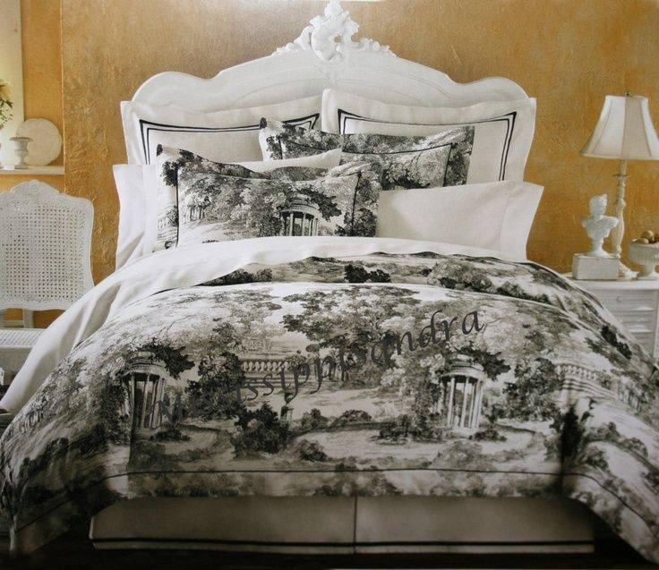 black toile bedding black and white toile - Toile Bedding