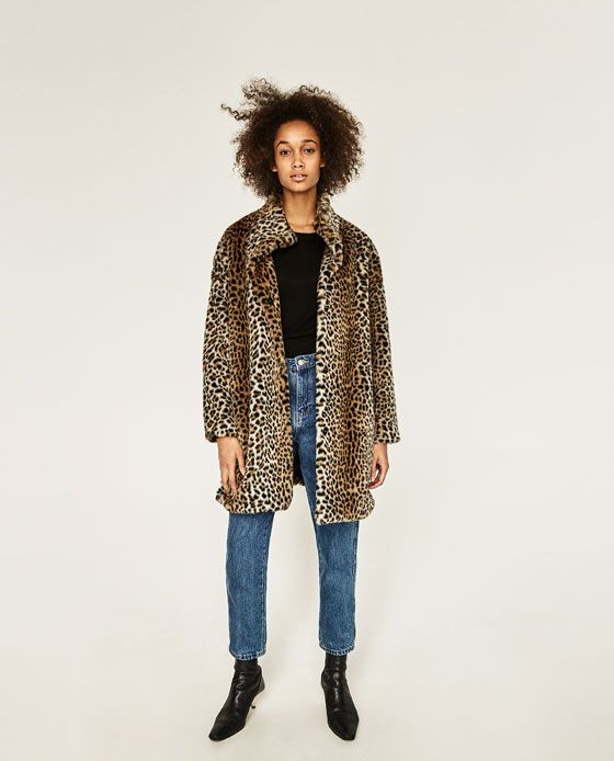 Mantel leopard zara