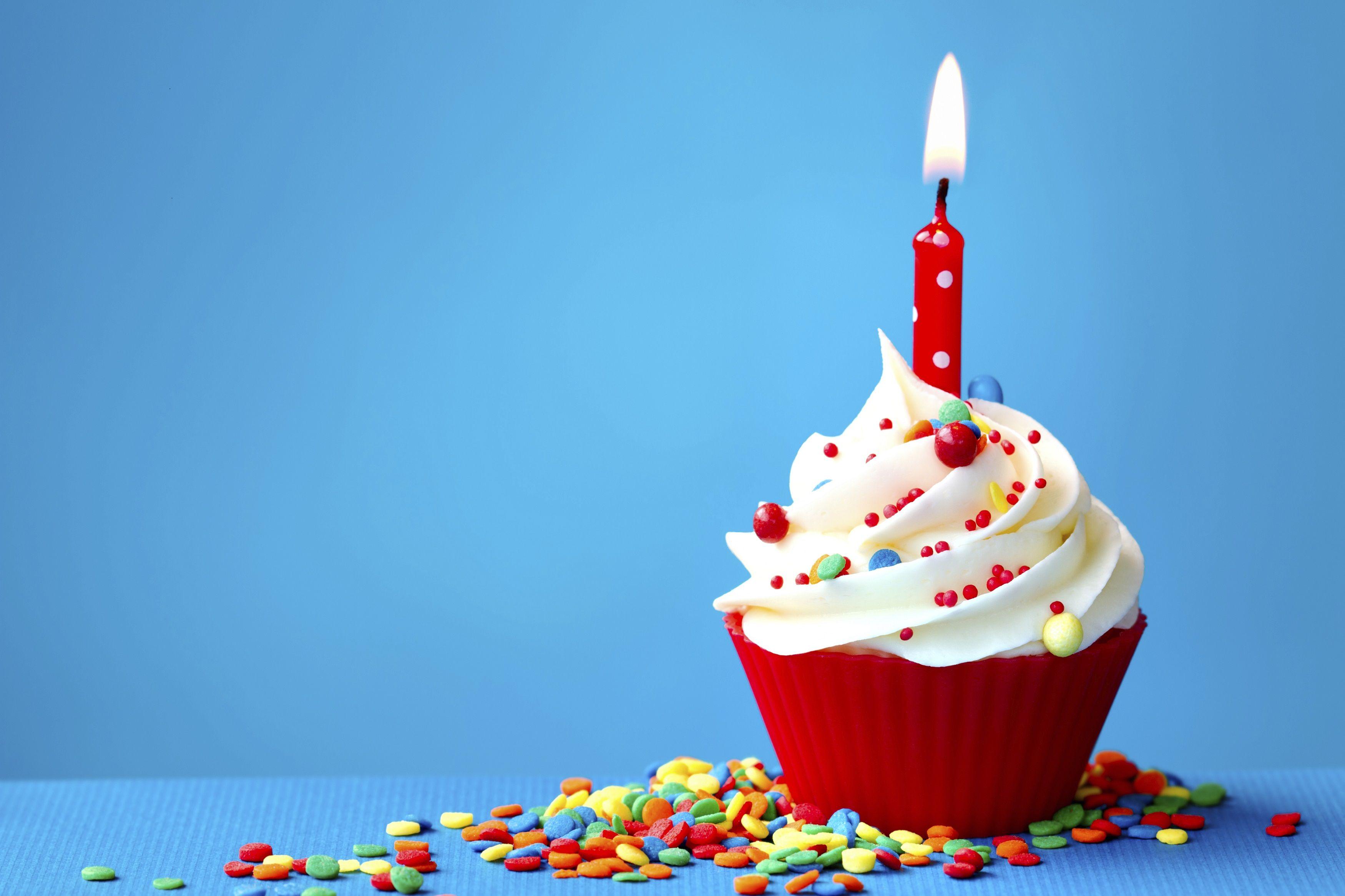 Blue Birthday Cupcake Birthday to mpn research! | Happy ...