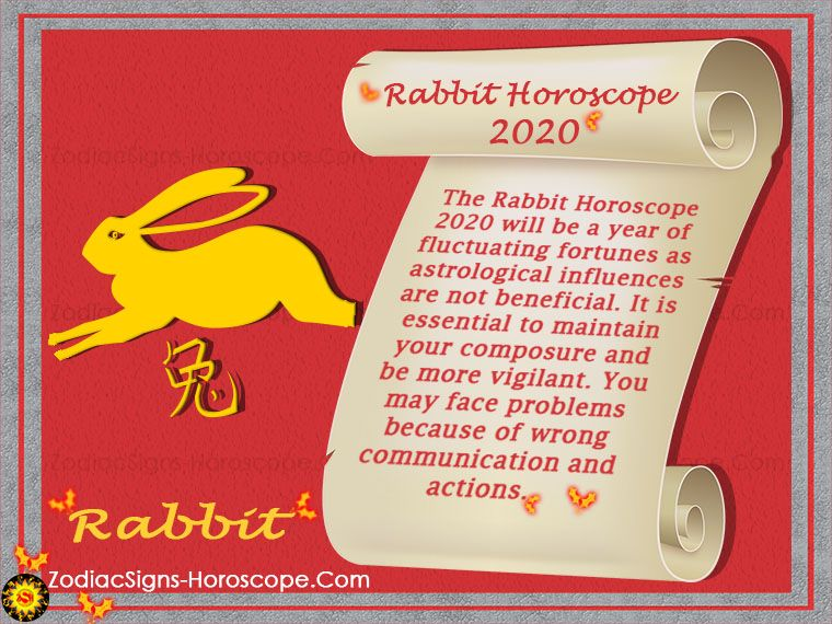 The Rabbit Chinese Horoscope 2020 will be a year of