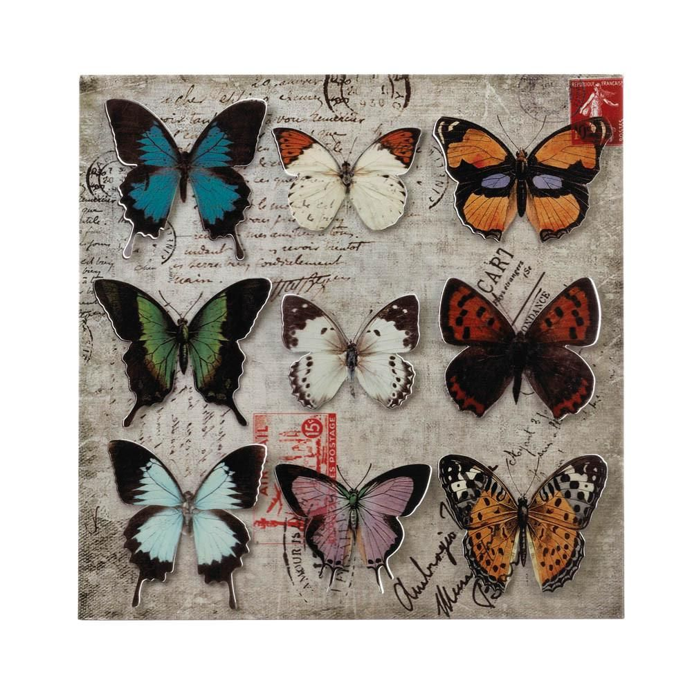 Butterfly collage d wall art redecorating pinterest collage