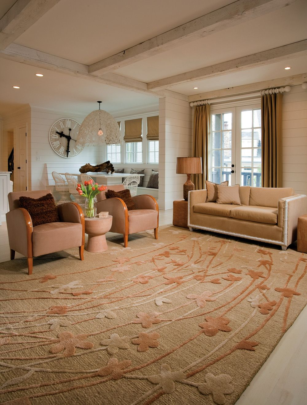 Wildflower area rug in living room area rugs - Pictures of area rugs in living rooms ...