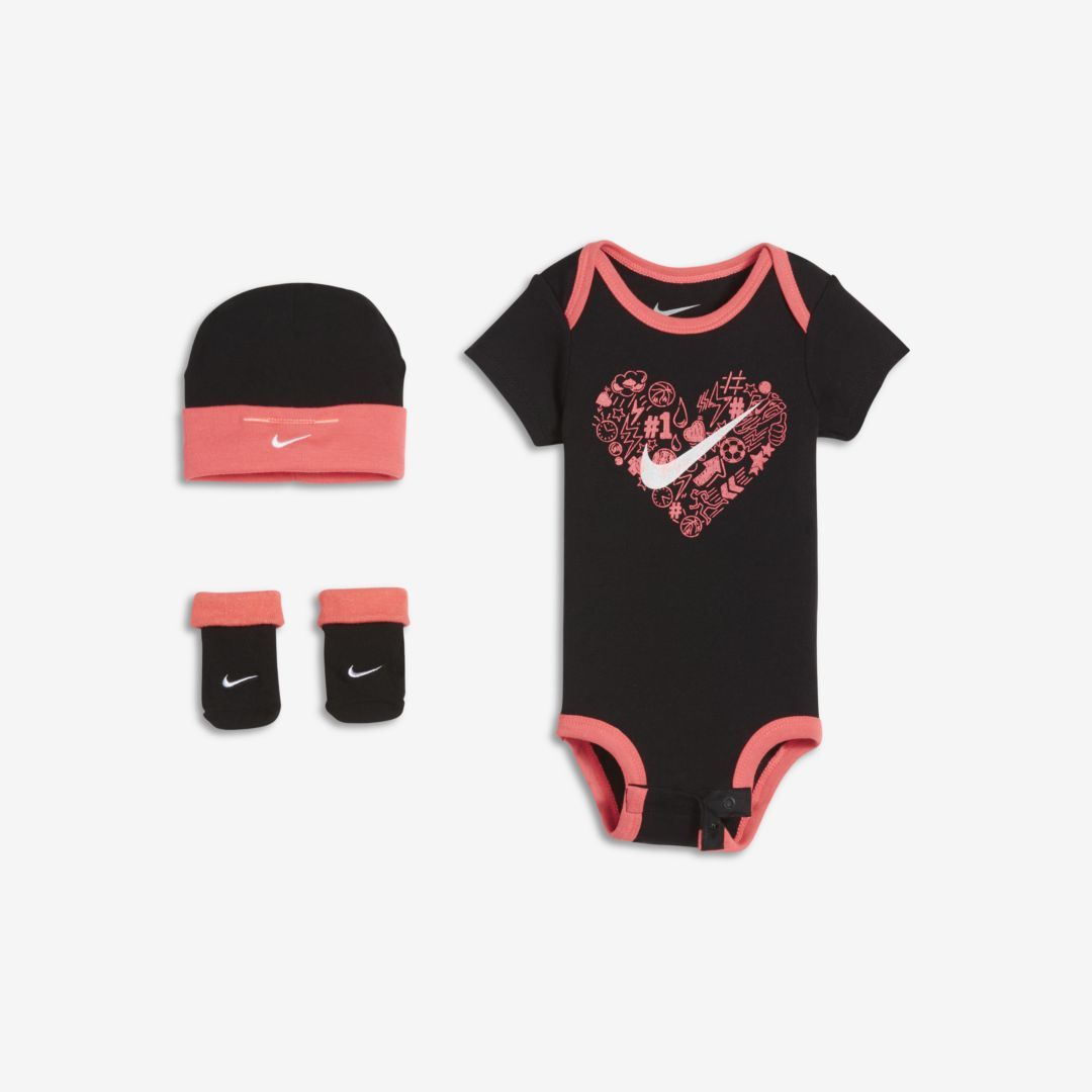 6-9 mo Messages from the Heart Bodysuits Baby Gift Set 6 Pieces Pants Socks