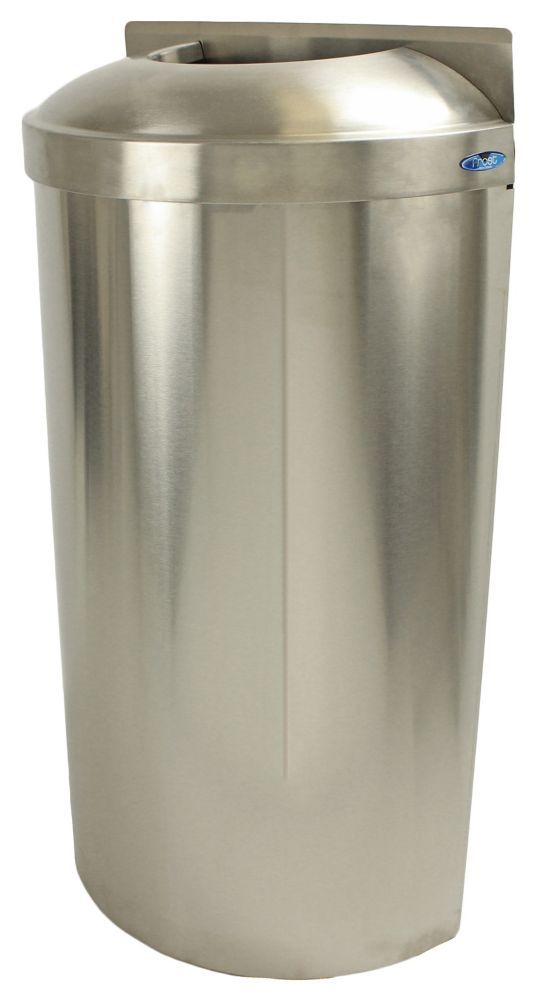 Wall Mounted Waste Receptacle With Open Top Trash Can Receptacles