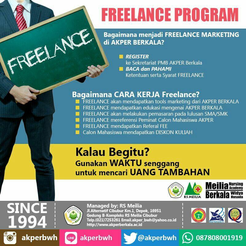 Akper Berkala Membuka Peluang Bekerjasama Dengan Anda Yang Tertarik Untuk Menjadi Marketing Freelance Callus Mahasiswa