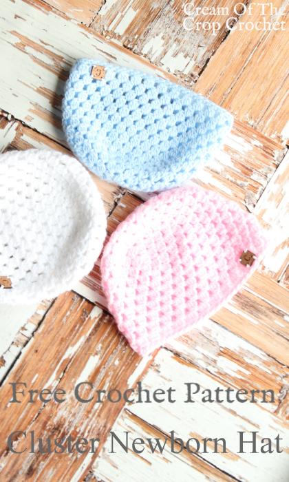 Cluster Newborn Hat Crochet Pattern | Cream Of The Crop Crochet ...
