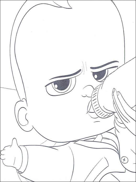 Boss Baby Coloring Pages 22
