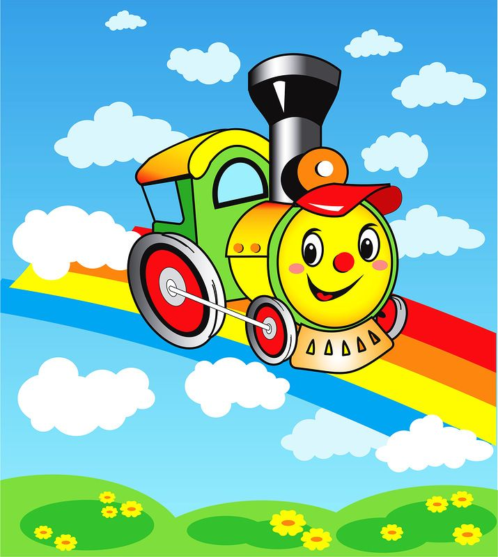 Надписью, картинка с паровозом детская