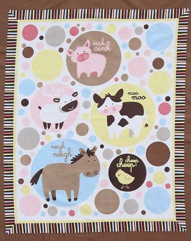 FARM ANIMALS quilt patterns free FARM ANIMALS QUILT TOP FABRIC, PATTERN,WADDING KIT - USD 79.95 ...