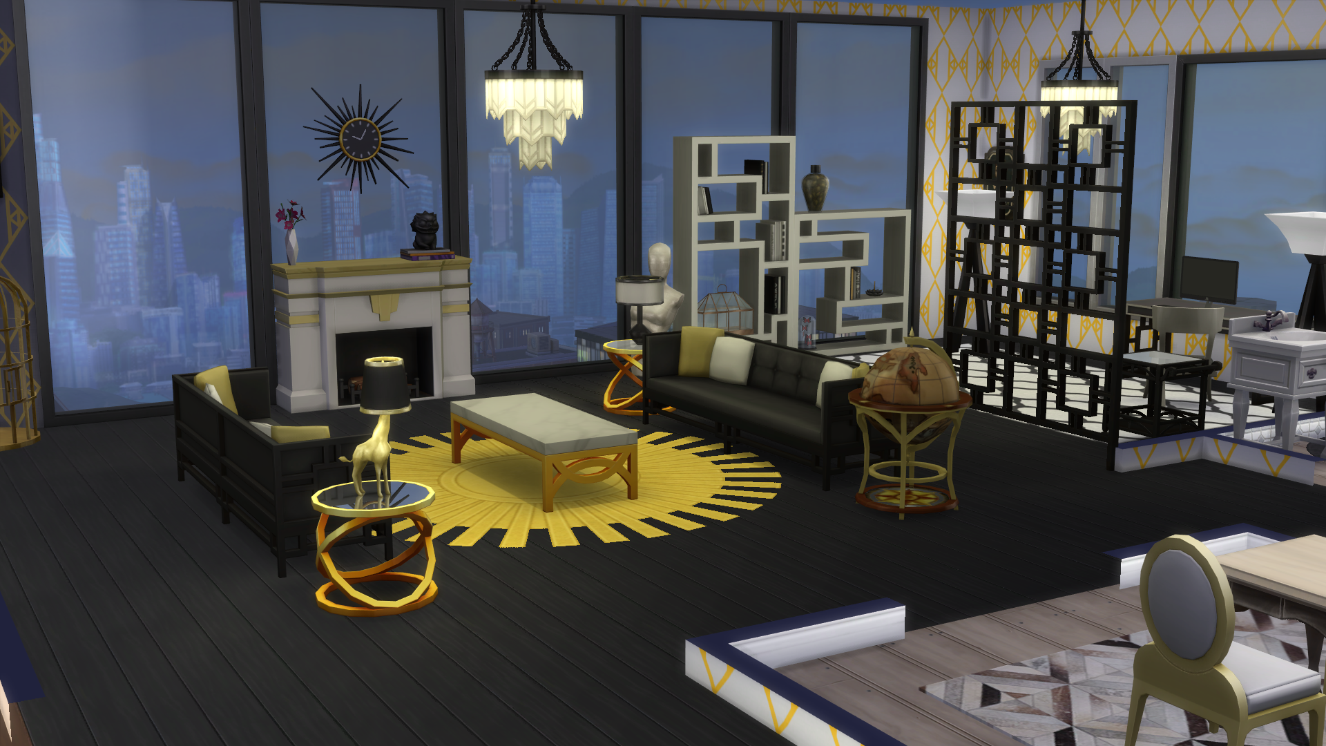 Living Office Room As Featured In My Sims 4 Vintage Glamour Stuff Pack Review Thesims4 Glamour Living Room Living Room Sims 4 Room Decor