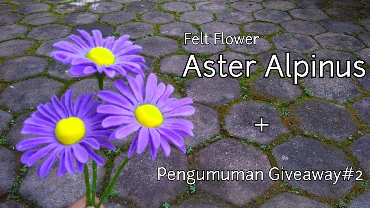 Diy How To Make Felt Flower Aster Alpinus Cara Membuat Bunga Flanel Aster Felt Flowers Felt Flowers Diy Felt Flower Tutorial