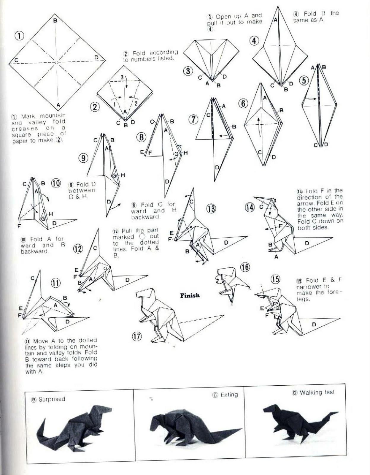 25 Printable Instructions for origami Crane Origami