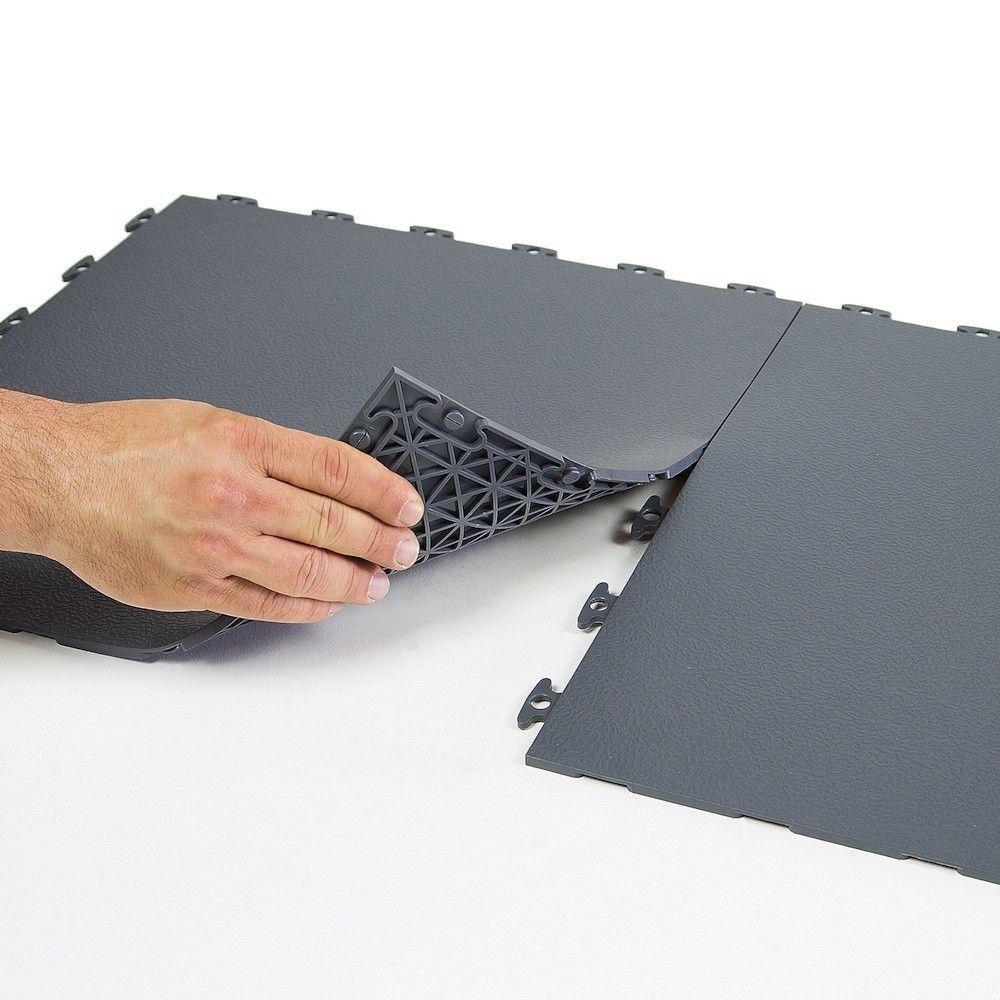 Flexible Pvc Floor Tiles 18x18 Inch Interlocking Flooring By Modutile Basement Gym Rubber Floor Tiles Gym Flooring Tiles