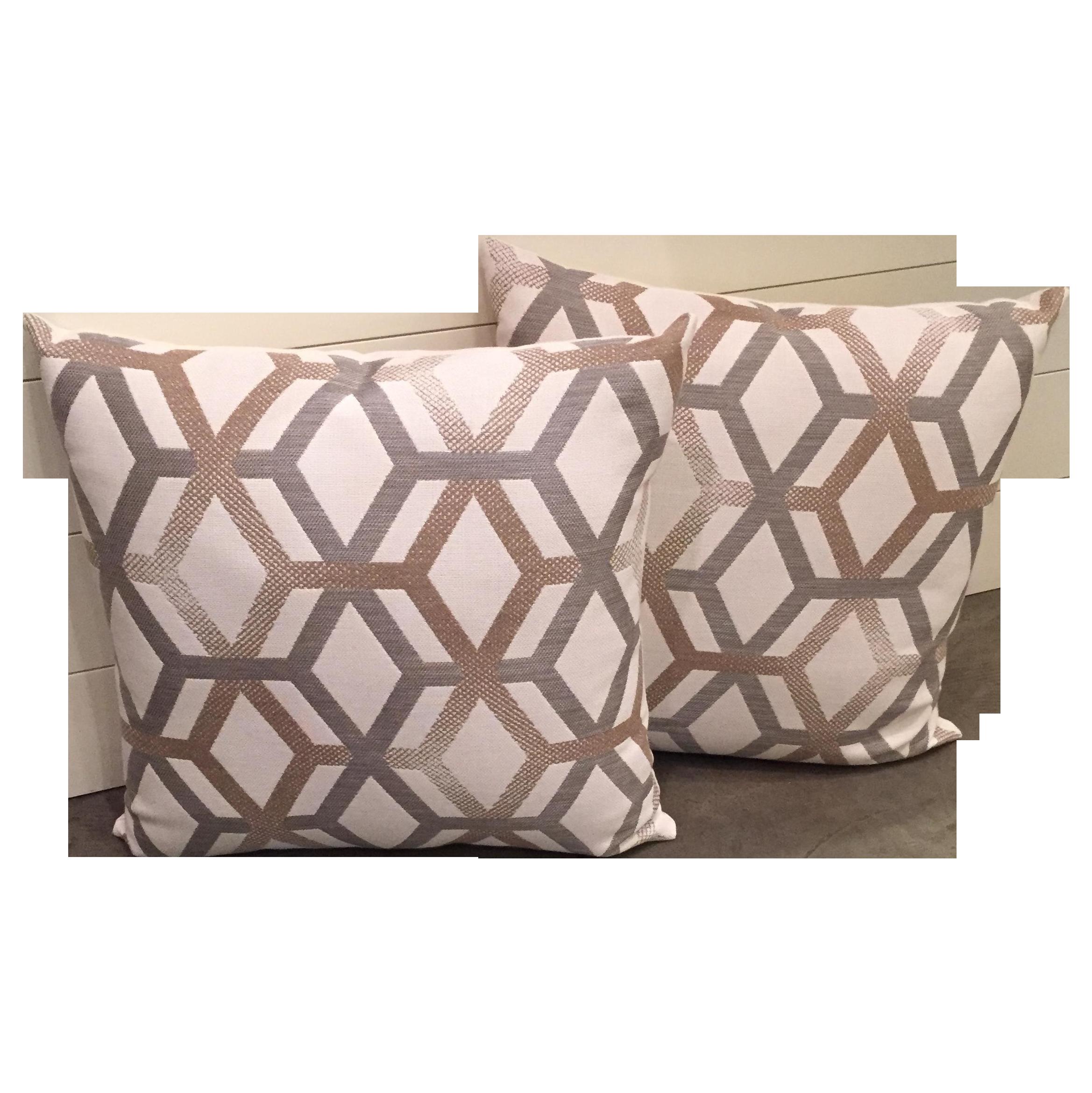 Elaine Smith Outdoor Pillows   A Pair