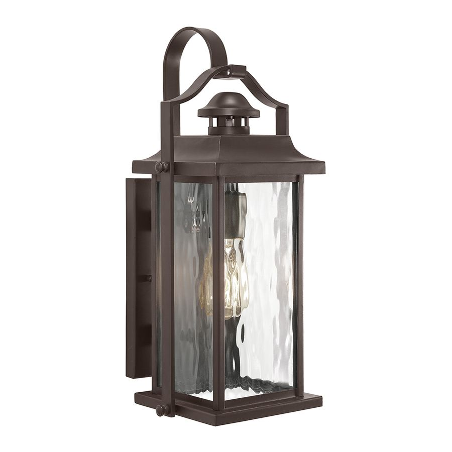 shop kichler lighting linford 15 in h olde bronze outdoor wall light