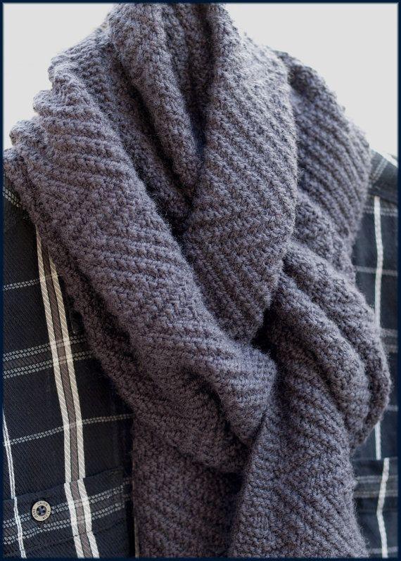 Lamberhurst Scarf - Knitting pattern - Mens scarf - Reversible ...