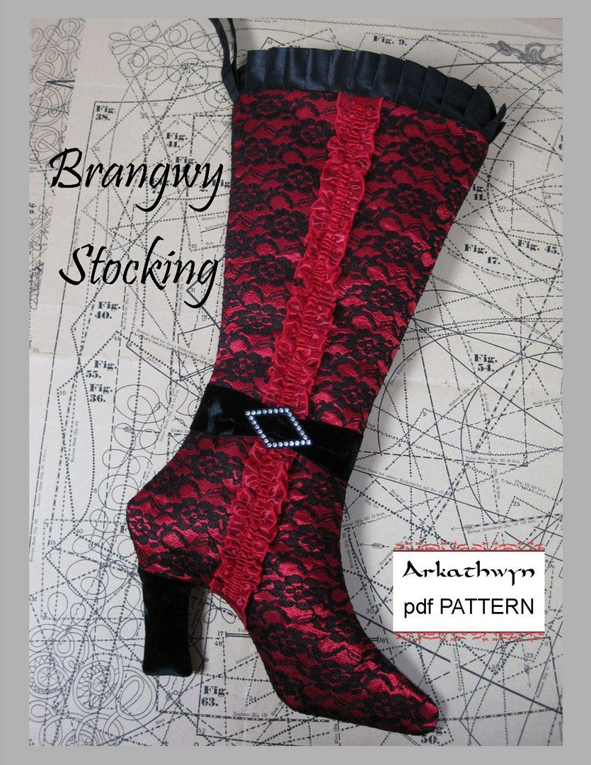 Christmas stocking pattern pdf elegant high heel bootangwy christmas stocking pattern elegant high heel boot 795 via etsy jeuxipadfo Gallery