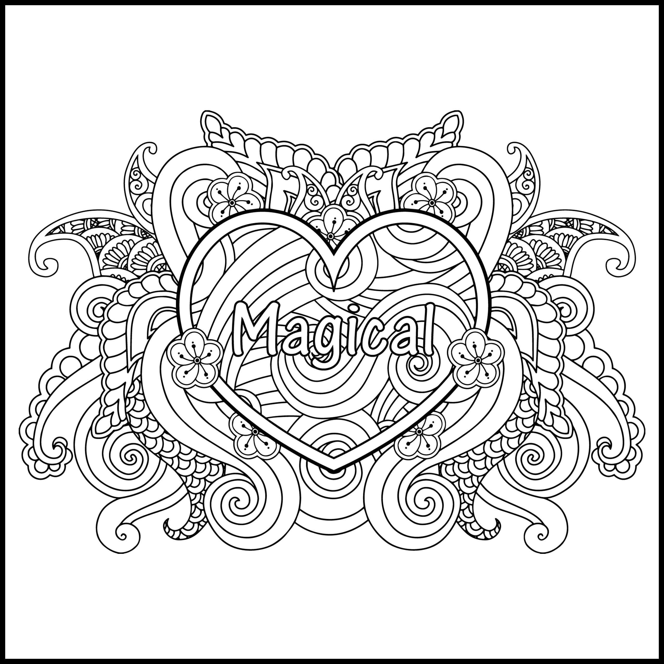 I AM Magical - Adult Coloring Page - Inspiring Coloring Page ...