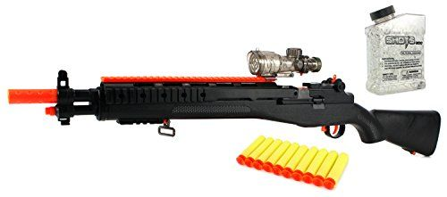 YK Hero M14 Sniper Spring Powered Toy Foam Dart & Water Polymer Ball  Shooting Gun w