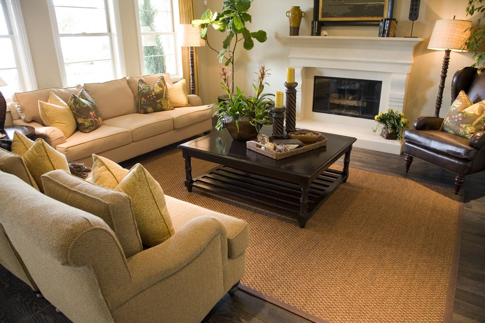 47 Beautifully Decorated Living Room Designs | Beige sofa and ...