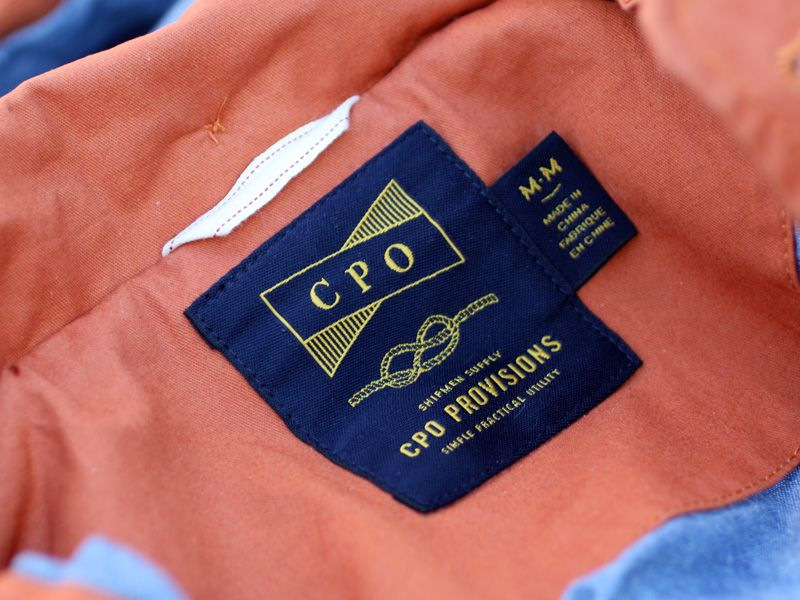 Naval/maritime inspired apparel branding for CPO via grayhood.
