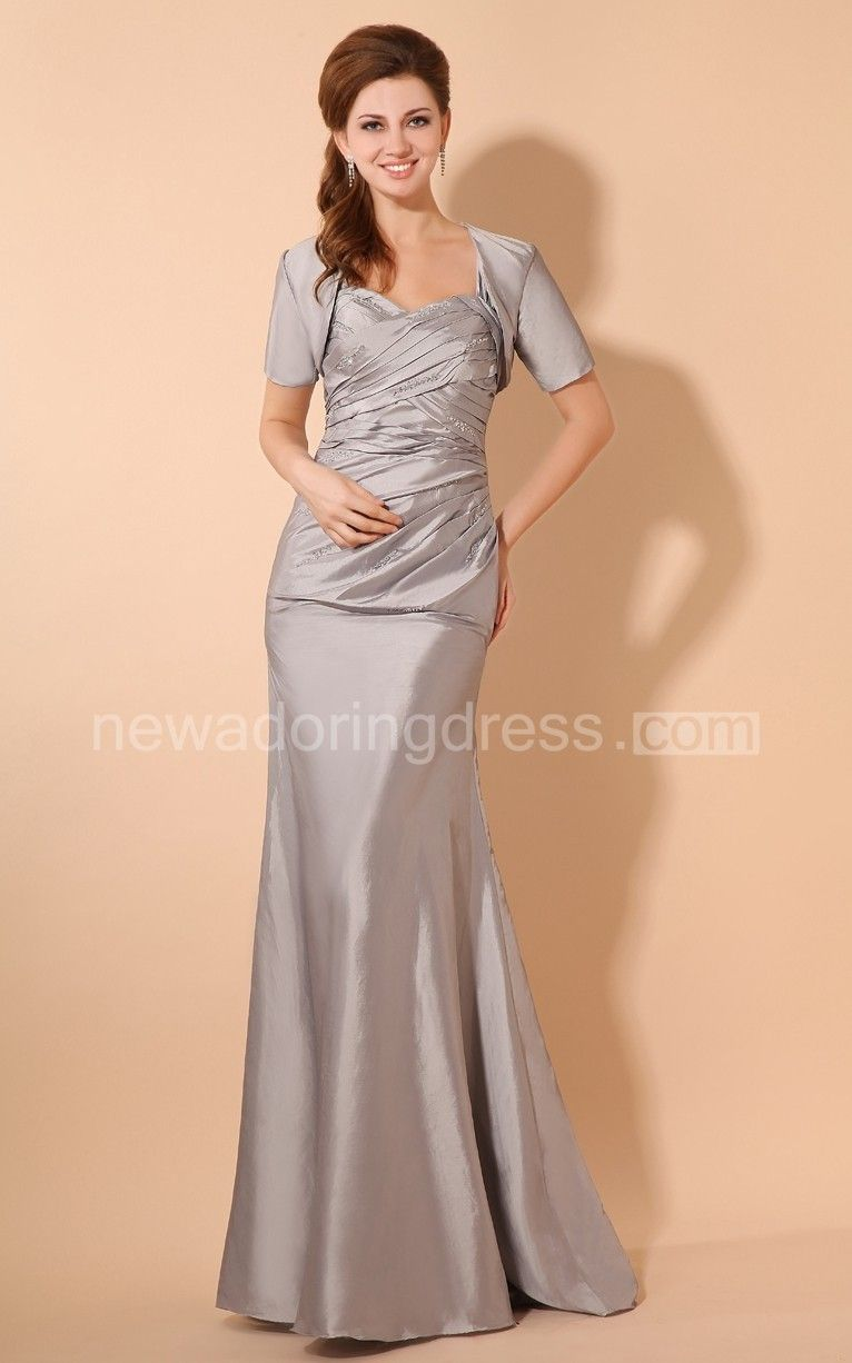 Taffeta long maxi style dress with crisscross ruching groom dress