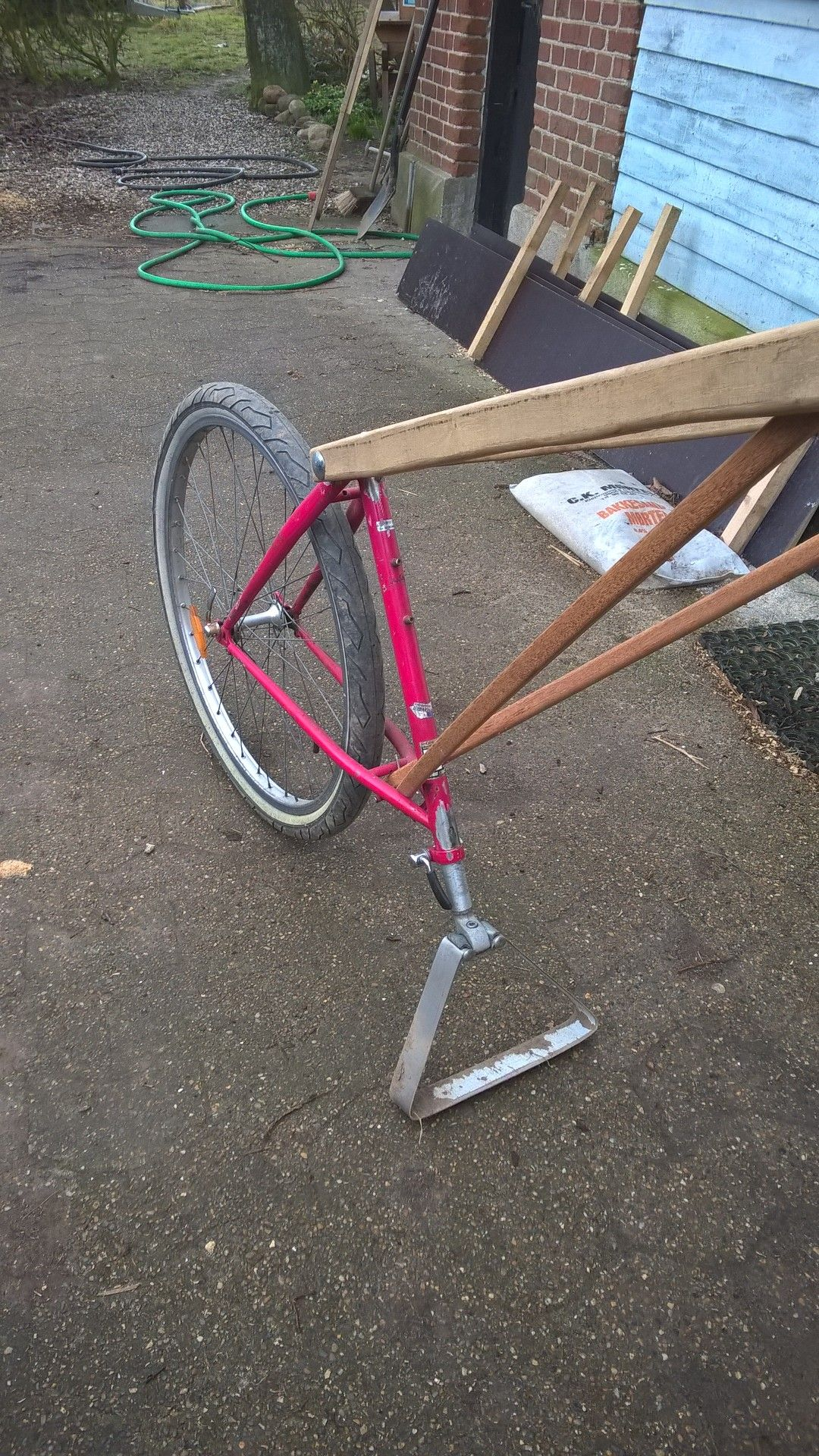 Bike chopper hoe weeder from old bike Diy tool | Farm Hack