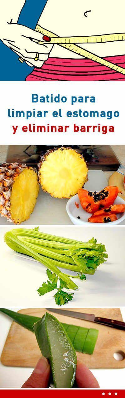 Batido Para Limpiar El Estomago Y Eliminar Barriga Healthy Drinks Detox Smoothie Workout Food