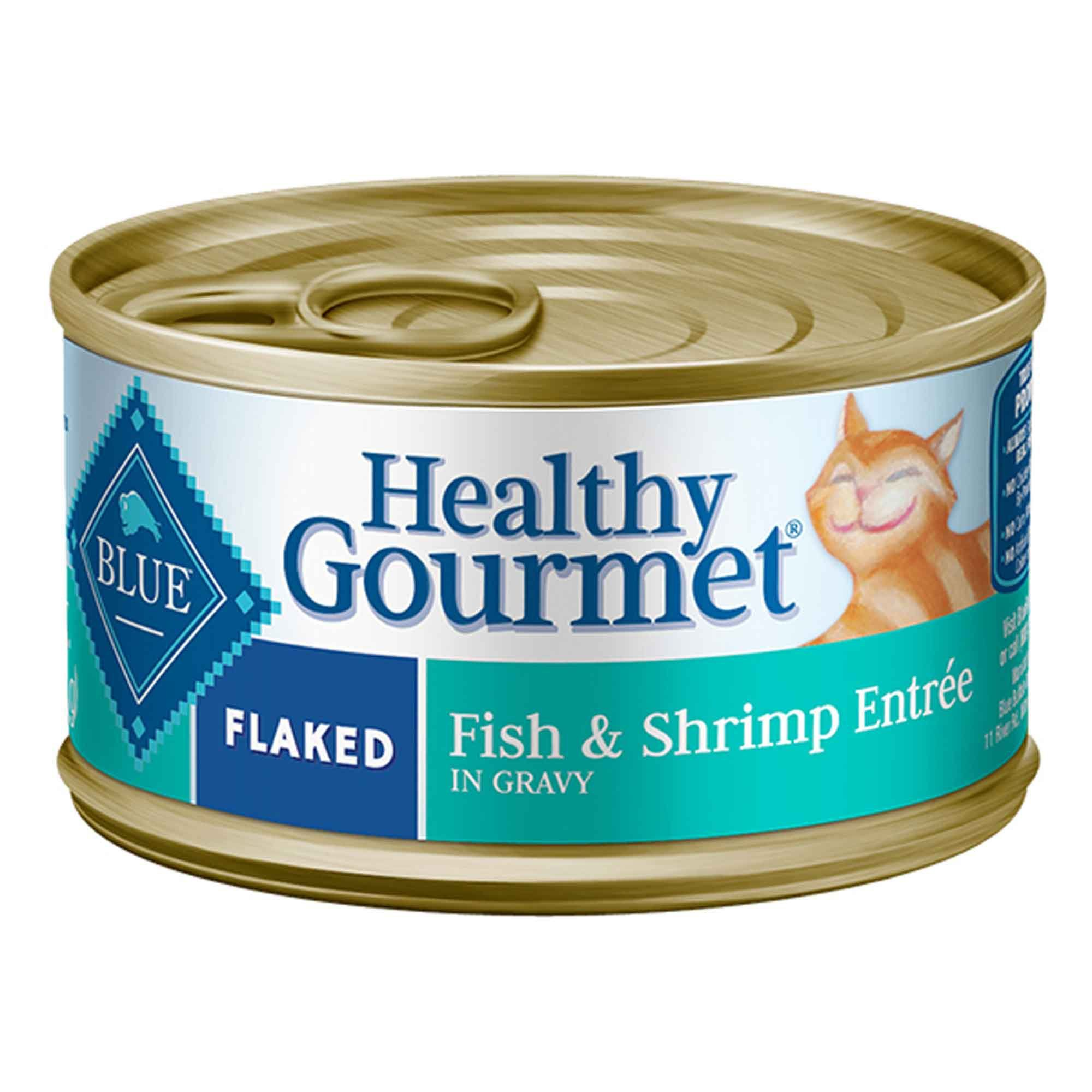 Blue Buffalo Blue Healthy Gourmet Flaked Fish Shrimp Entree Wet Cat Food 3 Oz Case Of 24 24 X 3 Oz In 2020 Healthy Gourmet Canned Cat Food Gourmet Chicken