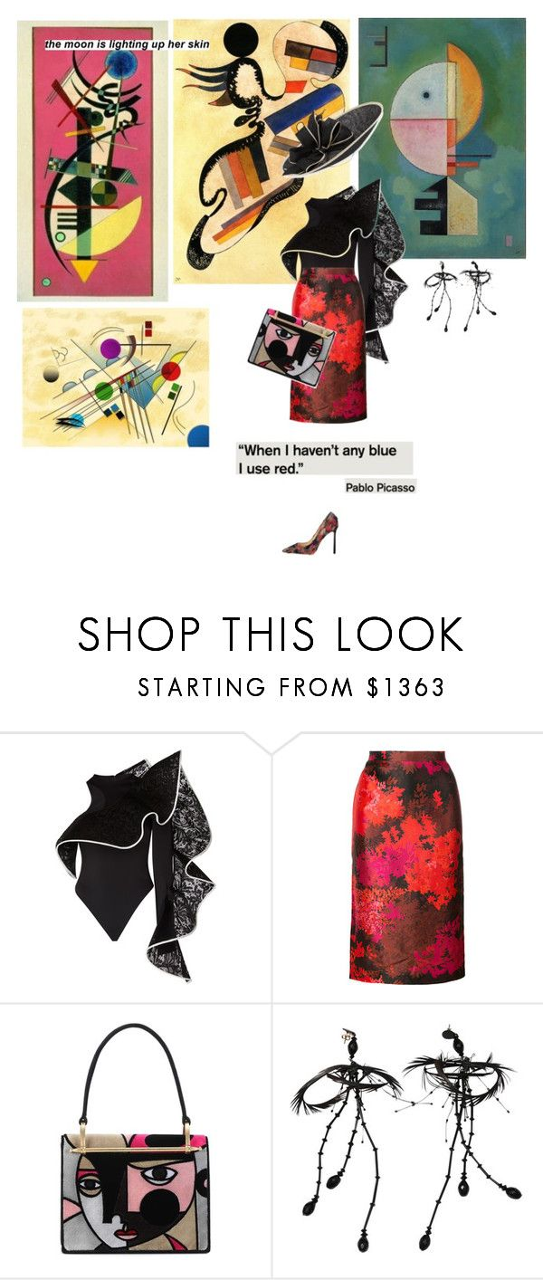 """on the other side of the globe"" by la-rosy ❤ liked on Polyvore featuring David Koma, Rochas, Prada, Tom Ford, Rachel Trevor-Morgan, colors and painting"