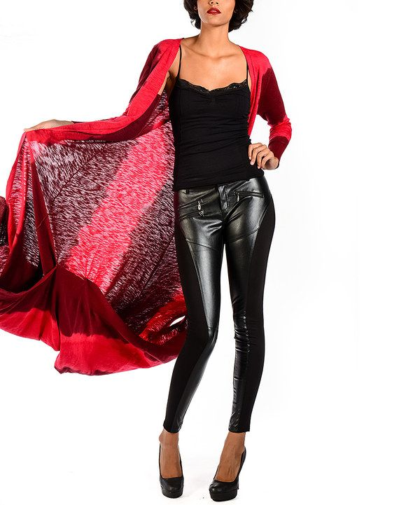 Look At This Premise Paris Black Faux Leather Leggings On