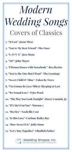 15 Modern Wedding Songs Covers Of Classics Modern Wedding Songs Classic Wedding Songs Wedding Songs