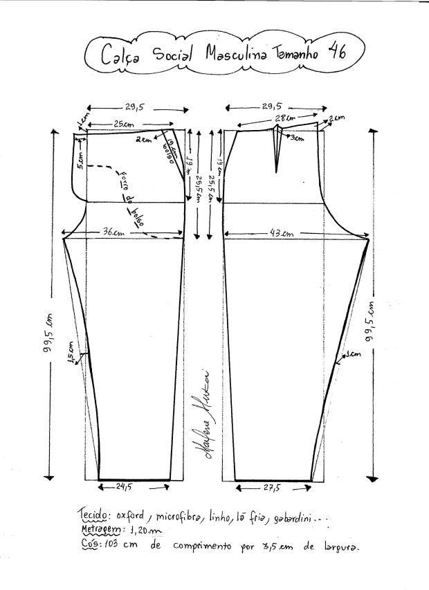 Patrón de pantalones de vestir para hombre - Patrones gratis ...