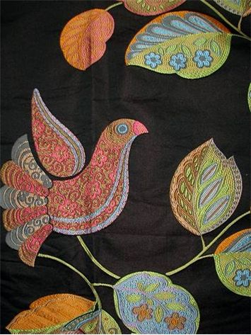 Delight Black Pearl Jacquard Heavy Bird Tapestry Fabric Perfect For Upholstery Or Drapery Fabric 100 Poly 29 Up T Tapestry Fabric Fabric Drapery Fabric