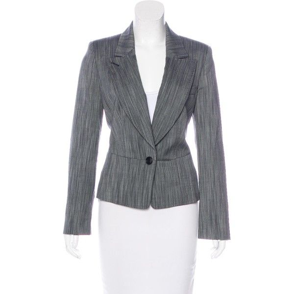 2b069619729a Pre-owned Herve Leger Wool Notch-Lapel Blazer (€79) ❤ liked on ...