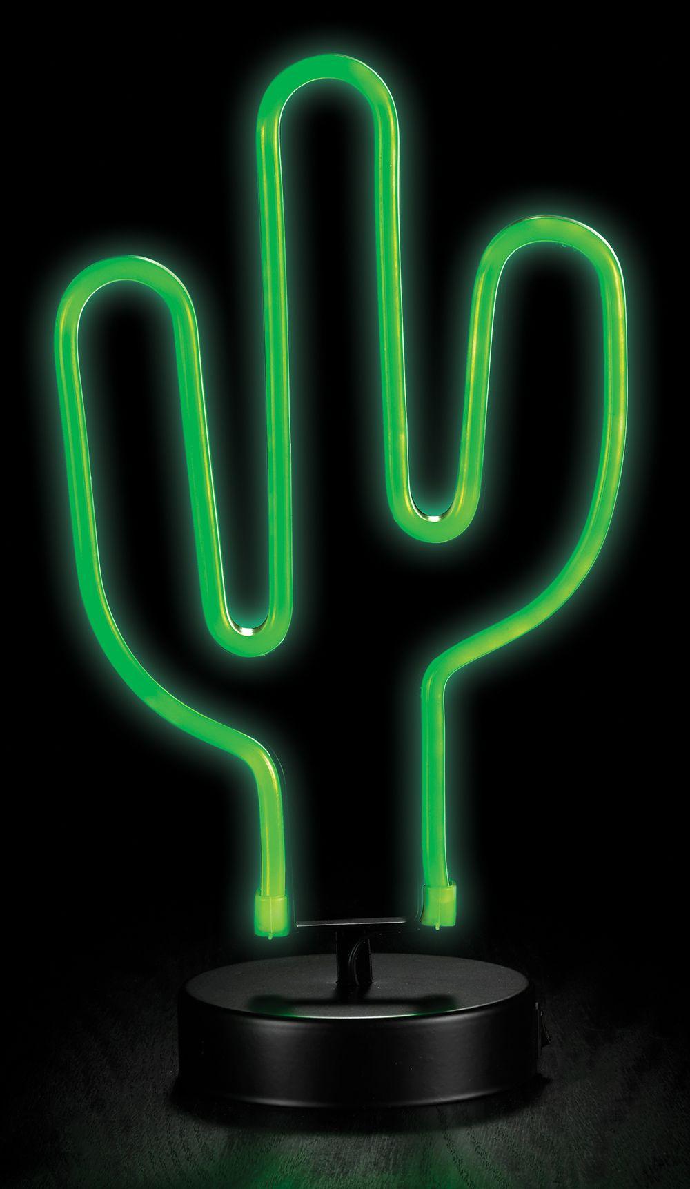 "Neon Table Light: LED ""NEON"" Cactus Table Light"