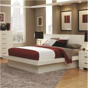 Coaster Jessica California King Pier Bed With Rail Seating And Lights    Coaster Fine Furniture