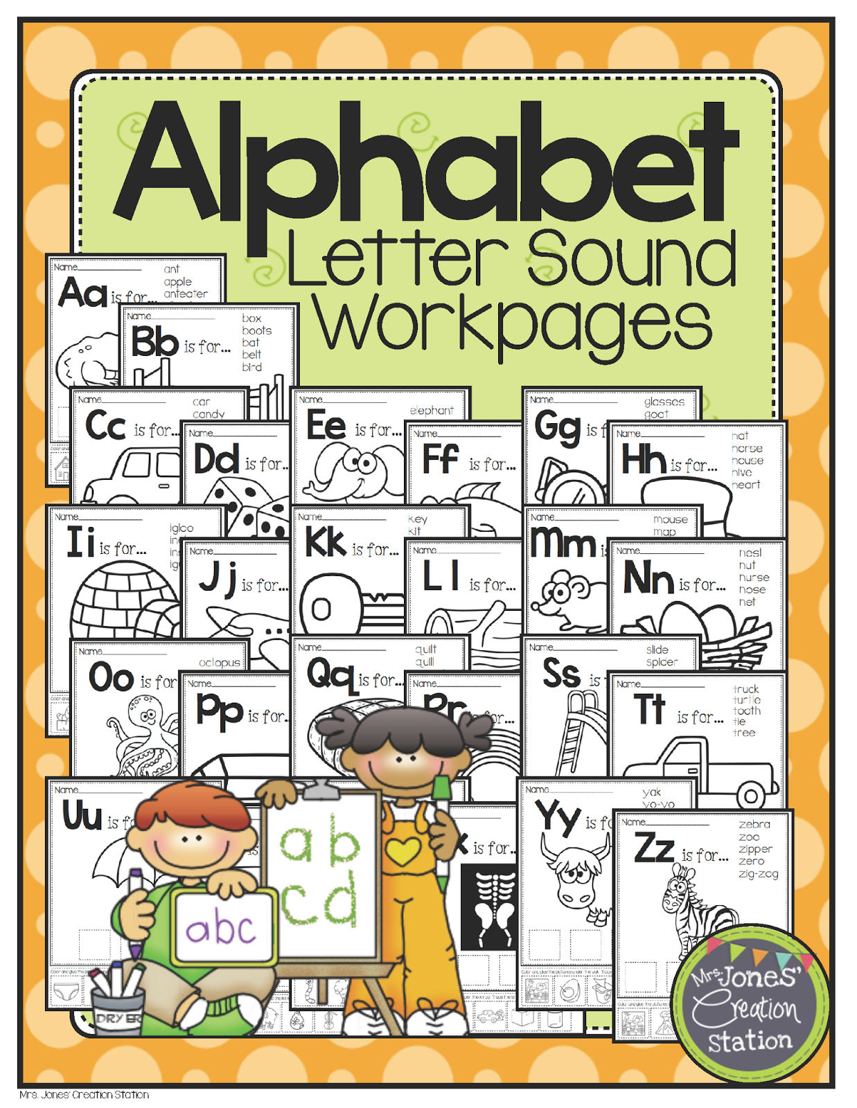 Alphabet Workpages Giveaway