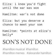 Image result for wars not done sons not done Hamilton