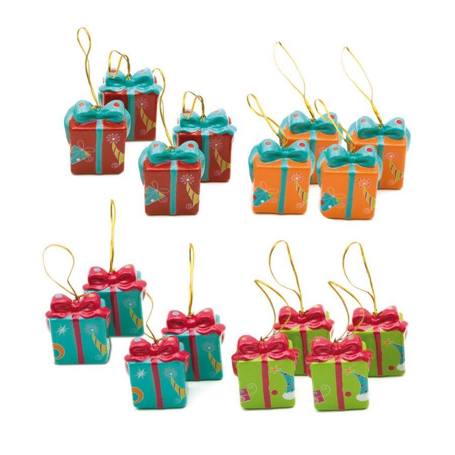 Cosas43, detalles y regalos para los invitados, boda, comunión y bautizo,  regalos infantiles Set 4 cajitas colgantes á… | Arbol de navidad, Regalos  navideños, Cajas