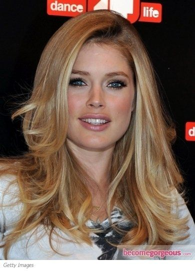 Blowout Hairstyle Mesmerizing Doutzen Kroes Sexy Blowout Hairstyle  Hairstyle  Pinterest